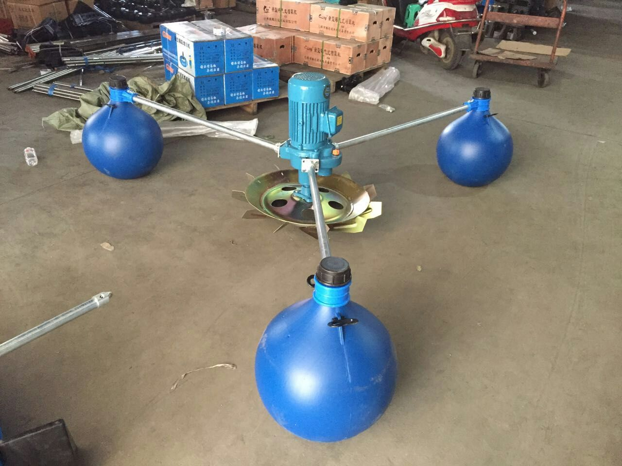 1.5KW2.2KW3KW虾塘增氧叶轮式鱼塘增氧机  叶轮式增氧机-02