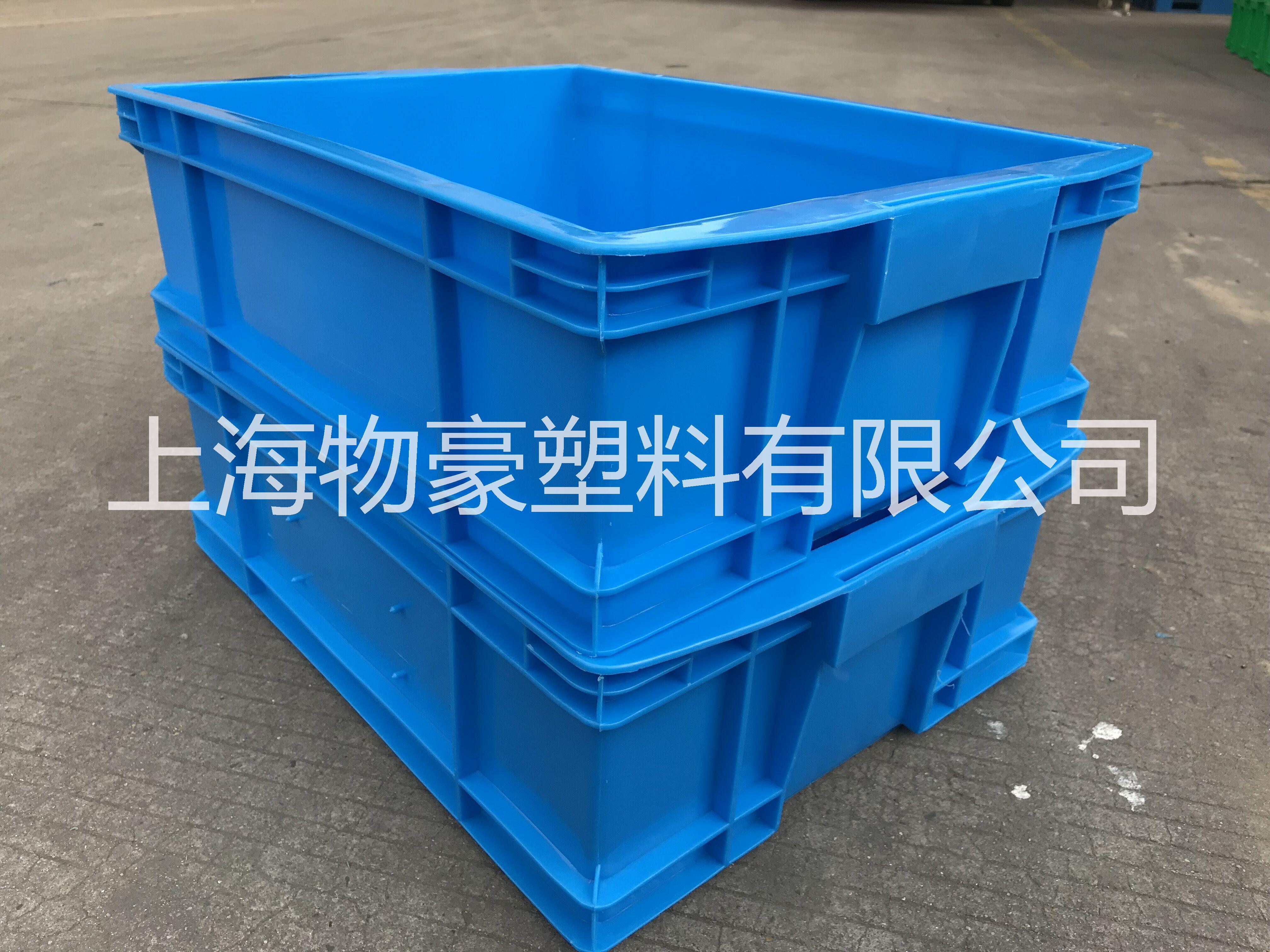 上海塑料箱厂家直销 食品级塑料周转箱 全新料塑料周转箱  450系列全新料塑料周转箱可配盖
