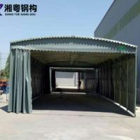 广州厂家批发彩色PVC帆布大型仓库推拉活动雨棚