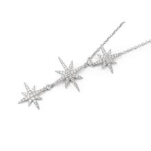 APM纯银镶晶钻项链