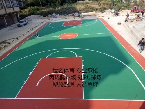 篮球场地坪漆图片/篮球场地坪漆样板图 (4)