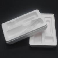 海南三沙纸浆包装盒自拍杆纸托白色