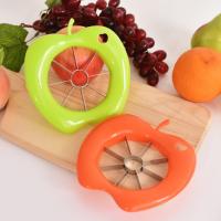 创意不锈钢塑料苹果切片器 去核分果器 多功能水果分割器 苹果切