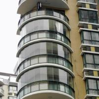 阳台弧形玻璃供应商 阳台弧形玻璃加工 阳台弧形玻璃报价
