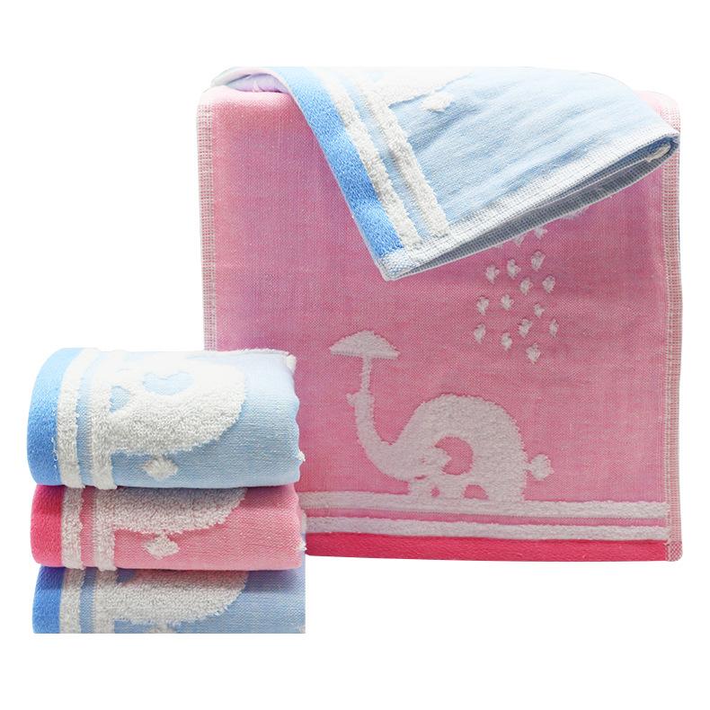 提花纱布童巾销售