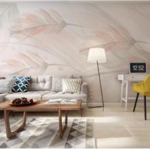 北欧卧室床背景墙墙纸现代简约温馨电视墙布客厅壁纸定制壁画壁布批发