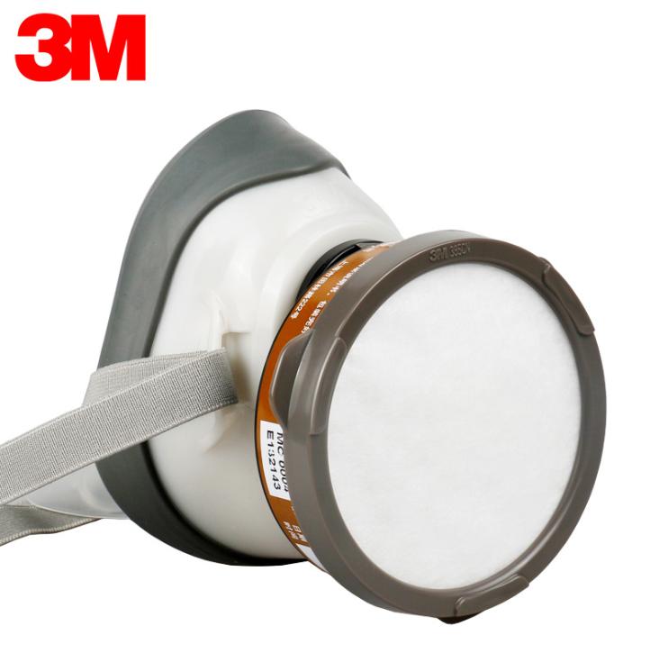 3M1201防尘防毒呼吸防护组合尘毒防护面罩 3M1201防尘防毒面具面罩3M1201喷漆防毒面具