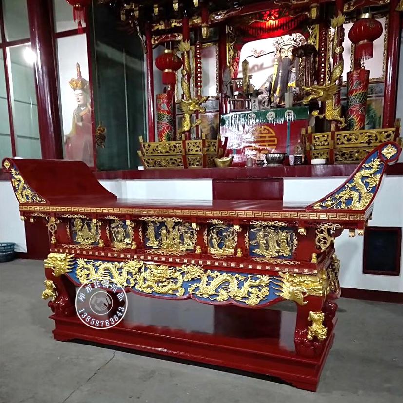 禅相法器直销寺院供桌 手工雕刻佛堂香案桌低价销售