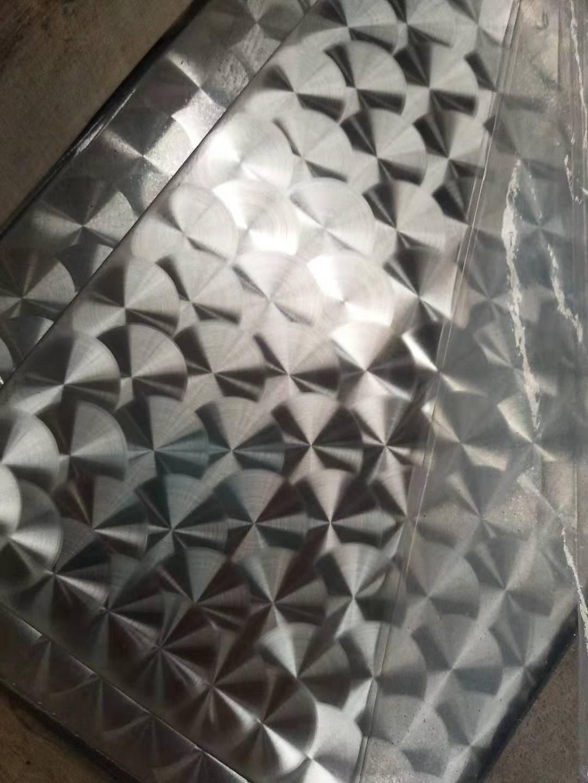 圆圈鱼鳞纹不锈钢板  20mm鱼鳞直径定制厂家 不锈钢水塔材料生产厂家