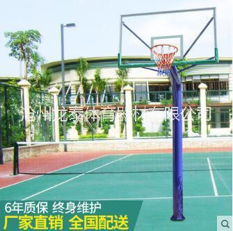 圆管篮球架 批发学校固定篮球架 方管篮球架