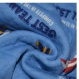潍坊 40S有机棉双面印花针织面料 空气层有机棉保暖 家居服床上用品面料
