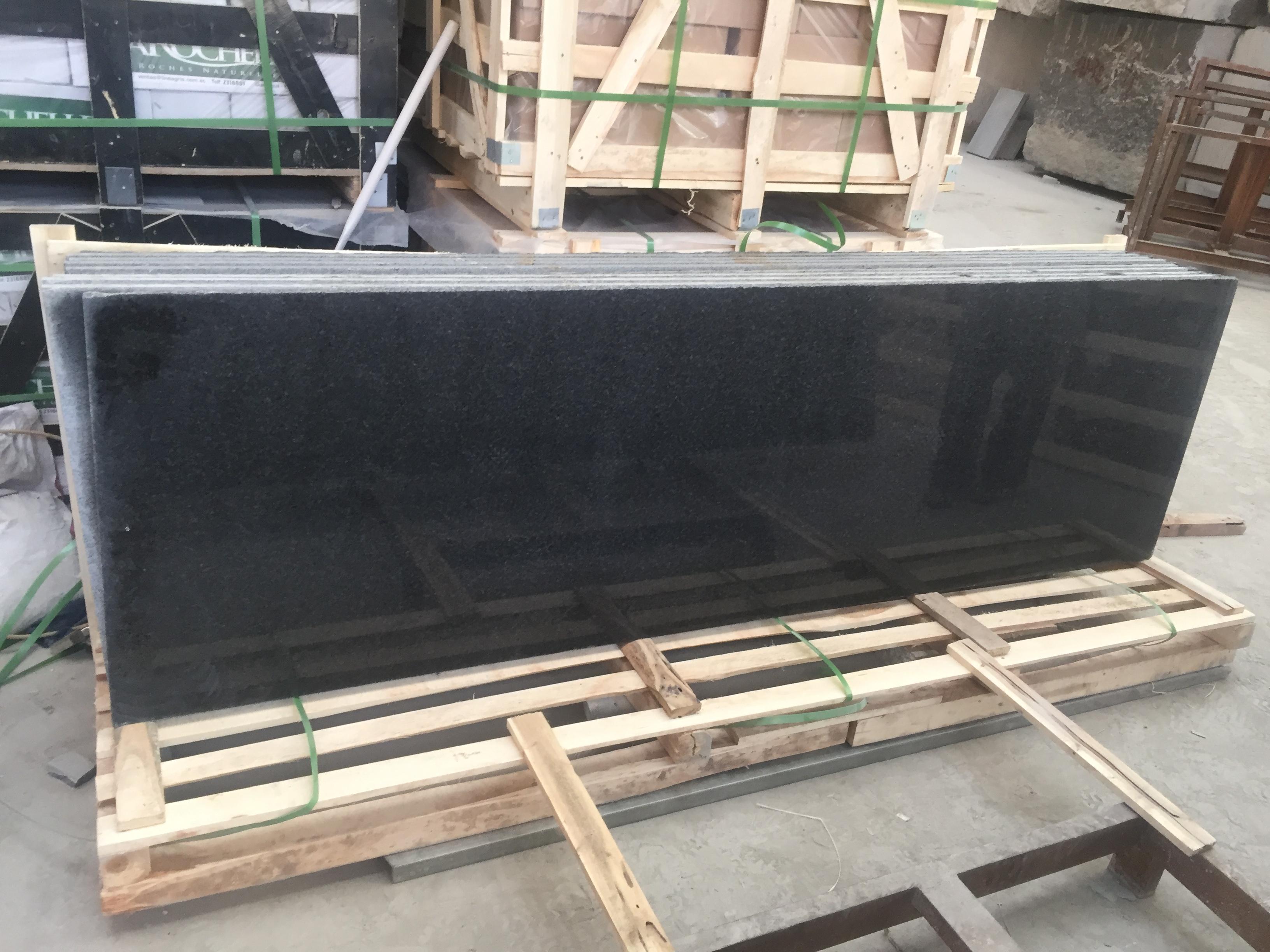 易县黑花岗石板出口 超大尺寸易县黑条板,出口品质