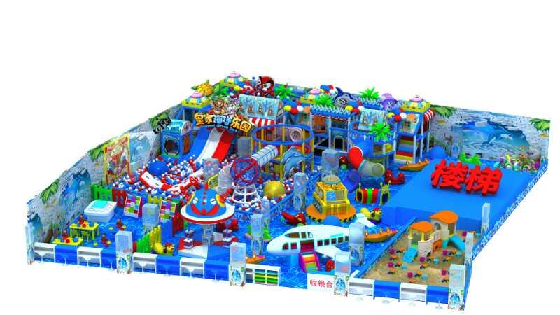 淘气堡儿童乐园室内设备游乐场设施 大型滑梯组合拓展乐园 淘气堡生产厂家