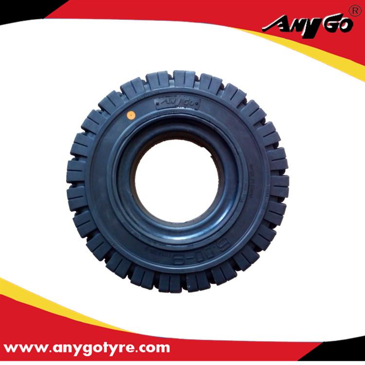厂家直销AnyGo品牌叉车实心轮胎6.00-9