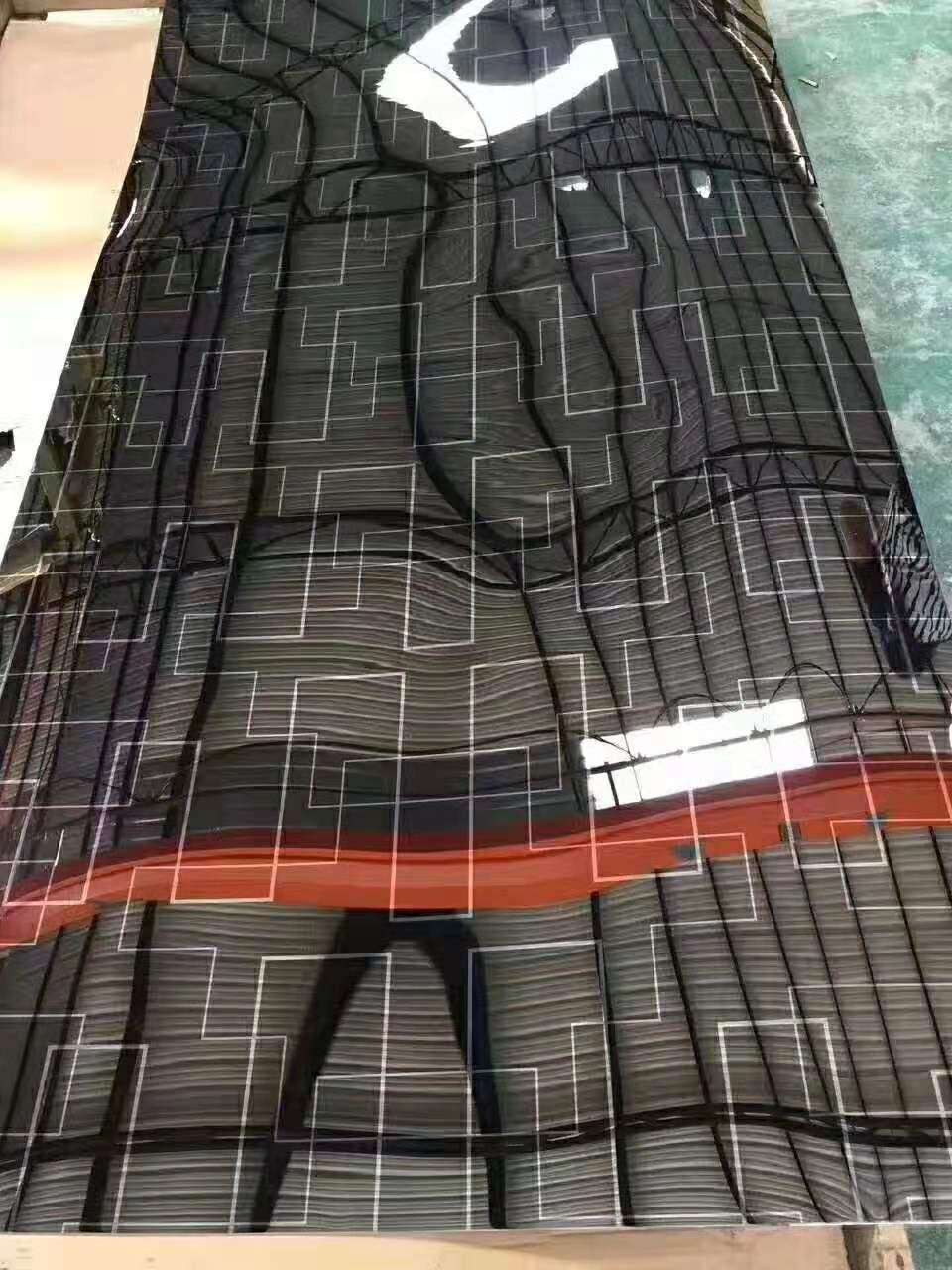 黑底银色线条不锈钢板 不锈钢蚀刻板生产厂家 电镀蚀刻不锈钢板
