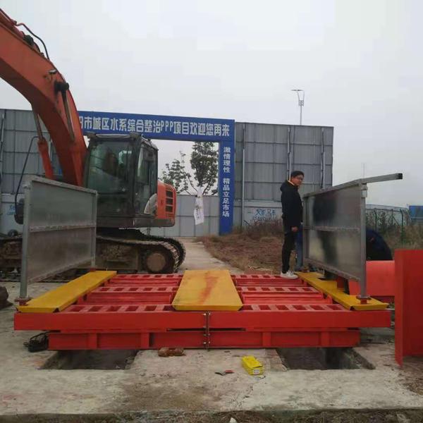 大型滚轴洗轮机 150T工地洗车机 建筑工地洗车台