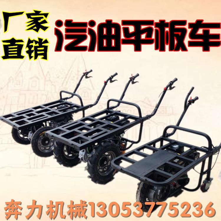 衢州畅销款汽油手推车   高山小路轻松运输车  果园拉货筐推车