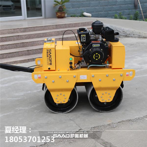 手扶双轮压路机海口施工管道沟渠工程都在用的手扶双钢轮压路机市场售价