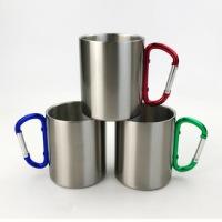 浙江登山扣杯不锈钢户外露营水杯礼品促销杯厂家直销量大价优