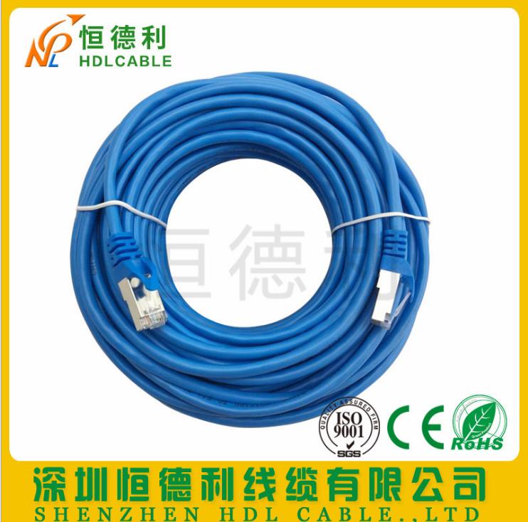 超五类成品网线 厂家直销加工10/20/30米纯铜电脑连接线CAT5跳线