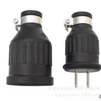 LKEW台湾隆光供电导轨配线槽公母插座 防水橡胶工业插头插座 美标工业插头插座