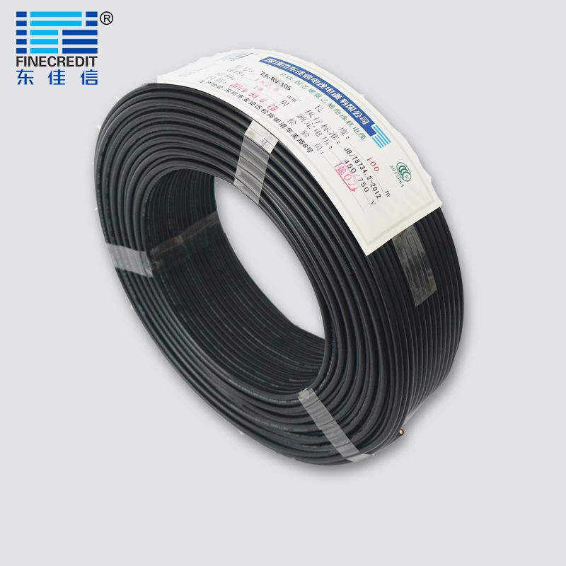 供应 ZC-RV铜芯单芯单股绝缘软电线