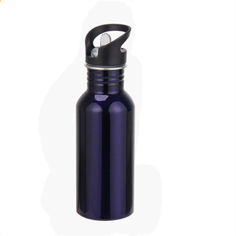 运动水壶单层不锈钢杯吸管杯礼品杯骑行杯可定制logo