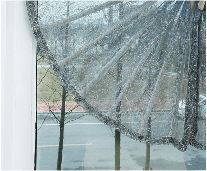 纱帘欧式鸟巢纱百叶绣花窗帘客厅阳台餐厅厨房扇形罗马帘升降帘