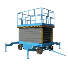 厂家定制车载式升降机移动剪叉升降机电瓶车式移动剪叉式升降平台图片