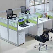 厂家直销办公桌椅简约现代办公家具职员桌屏风办公桌4人位卡座图片
