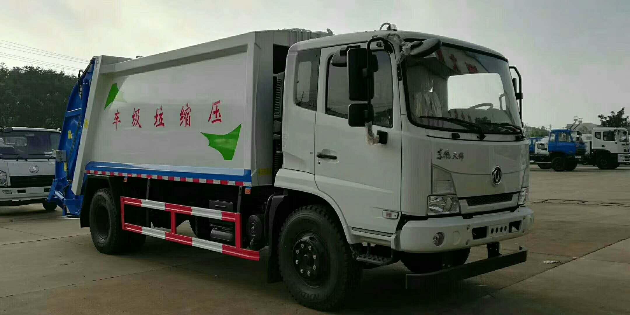 东风天锦压缩垃圾车图片-14方压缩垃圾车价格-配置-用途-压缩垃圾车厂家