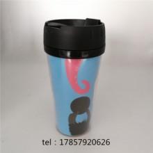 新款塑料咖啡杯2019新款塑料杯咖啡杯450ml运动水杯办公水杯广告纸杯可印logo批发