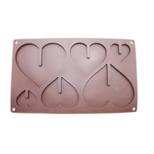 食品级硅胶DIY手工模具心形巧克力模蛋糕烘焙果冻模软糖模批发