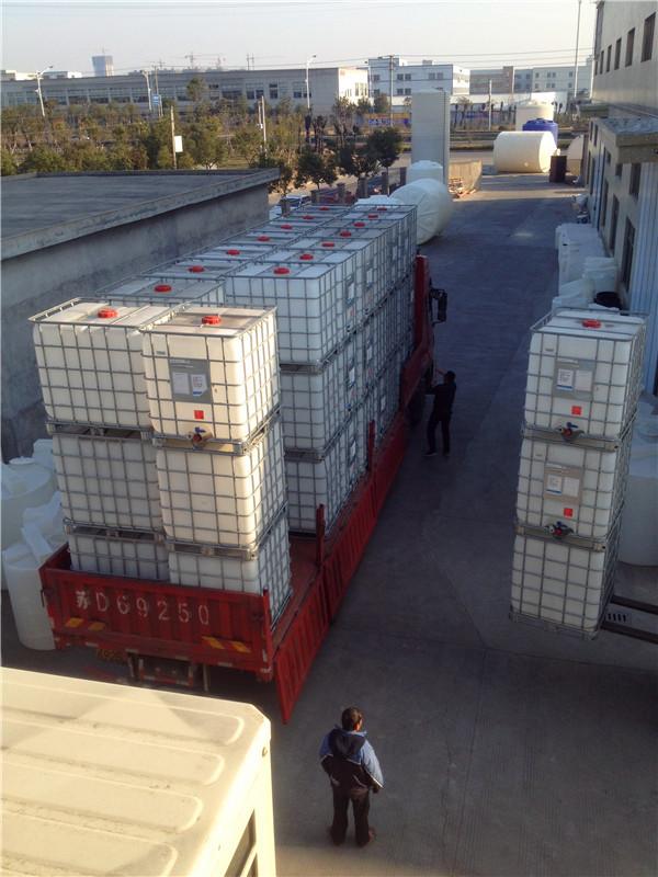 二手吨桶 吨方集装塑料桶 广州番禺现货二手吨桶 1立方塑料吨桶
