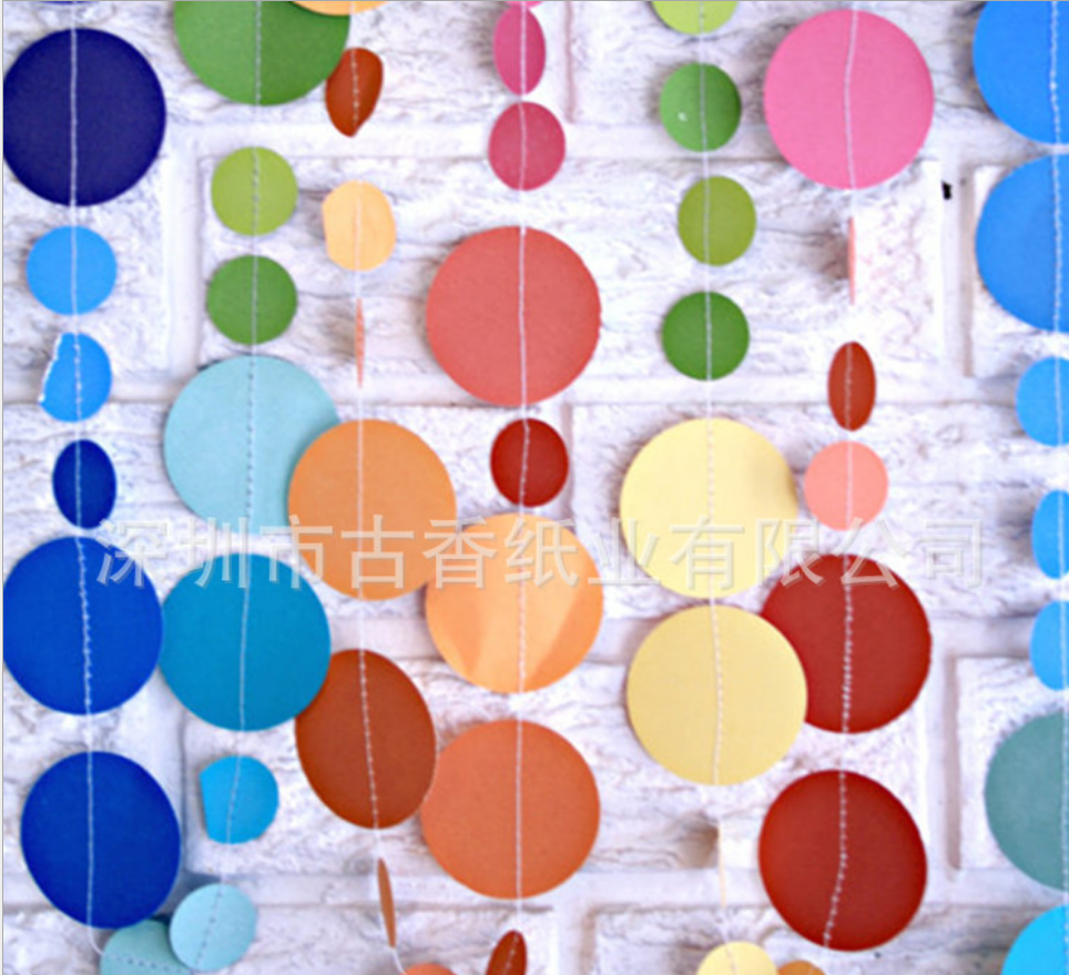 多彩纸串 挂饰纸风车 创意纸门帘 纸屑五彩抛花 多彩纸串批发 多彩纸串制作 多彩纸串经销商
