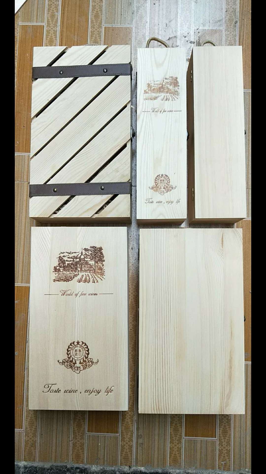 山东双支木盒供应