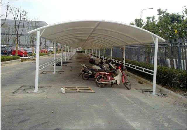 专业自行车膜结构停车棚安装厂家报价电话