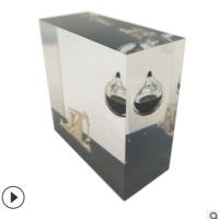 油滴工艺品 水晶胶油滴 树脂内藏油胆 石油公司纪念品 油田广告品