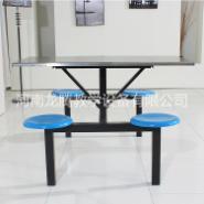 食堂钢架餐桌椅图片