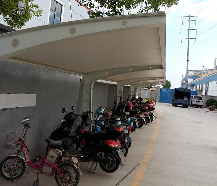 电动车停车棚优质供应商选择【金华市双顺膜结构】
