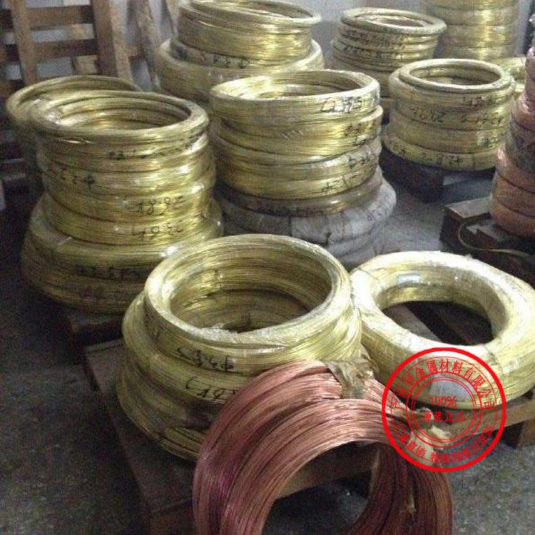 厂家直销优质可切割H62黄铜线 直径0.3~10mm硬态半硬 软态H62黄铜线 无铅高纯度H62黄铜线