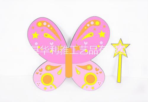 儿童玩具 纸板服装仙女  蝴蝶翅膀 公主魔法棒 绘画纸  涂鸦  骑士道具 装扮 DIY