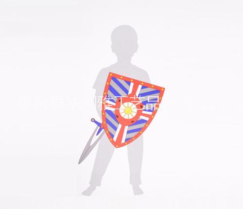 儿童玩具 纸板服装骑士 盾牌 剑 绘画纸  涂鸦  骑士道具 装扮 DIY