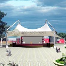 膜结构舞台遮阳棚文化广场膜结构舞台设计张拉膜结构舞台安装