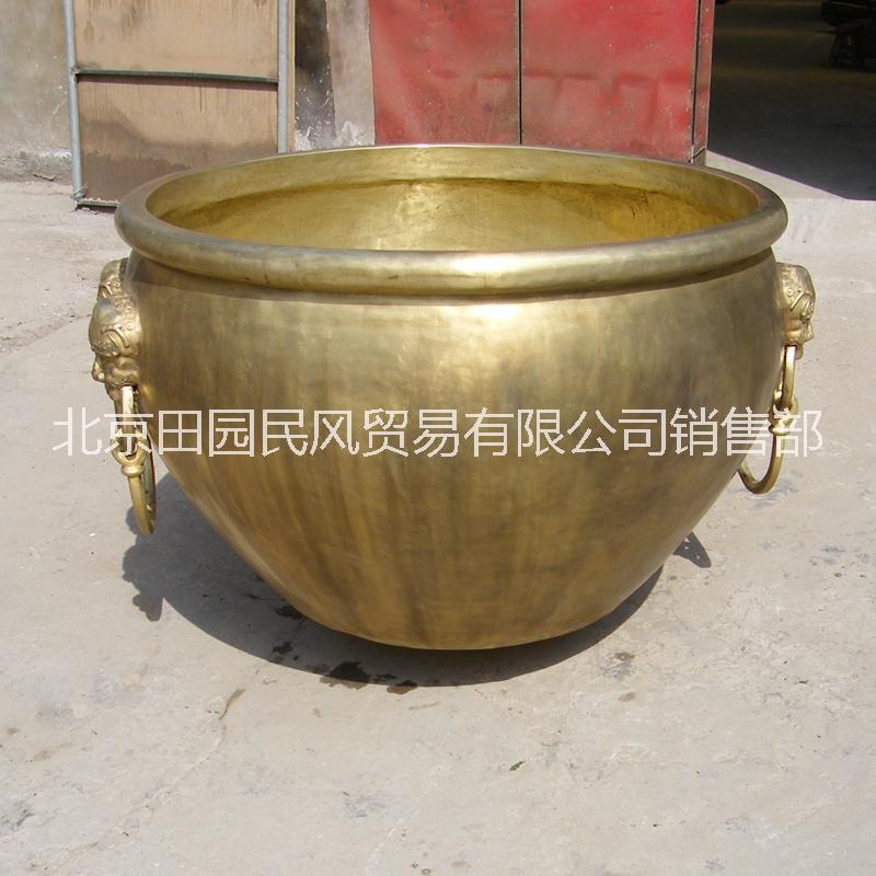 故宫铜缸仿故宫铜水缸 青铜铸造 铸铜庭院景观装饰摆件 铜大缸雕塑