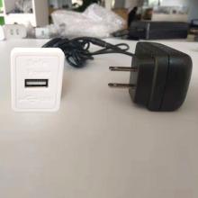 沙发办公桌家具内置安装手机USB充电器 白色单口手机USB充电器
