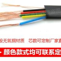 2芯/4芯电话线纯铜多股 厂家批发100米圆形/扁平 RJ11电话链接线