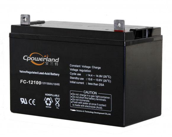 宝兰特FC-T12100公安局信息中心0太阳能免维护铅酸蓄电池12V100AH电瓶
