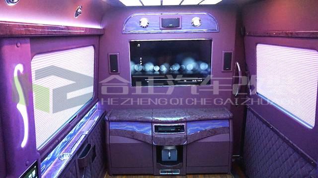 西安奔驰斯宾特合正改装内饰 改装隐藏式9座商务车房车