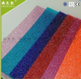 广告灯箱装饰 聚碳酸酯细砂小颗粒水滴纹实心耐力板 pc颗粒板
